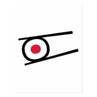 Sushi sticks post card
