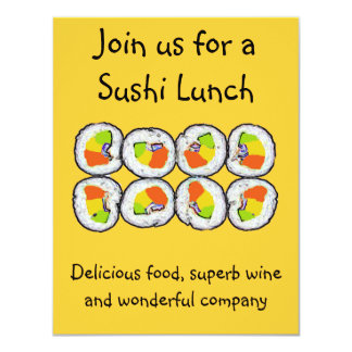 Sushi Sushi Invitation