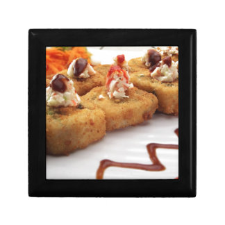 Sushi Sushi Roll Plate Japanese Food Asian Small Square Gift Box