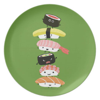 Sushi Tower - Happy Kawaii Sushi Friends Party Plate