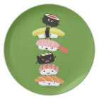 Sushi Tower - Happy Kawaii Sushi Friends Plate