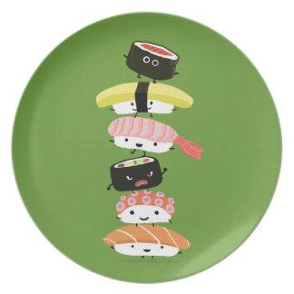 Sushi Tower - Happy Kawaii Sushi Friends Plate