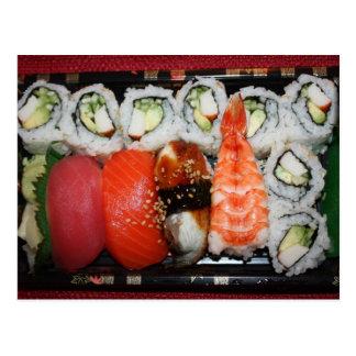 Sushi Tray Post Card