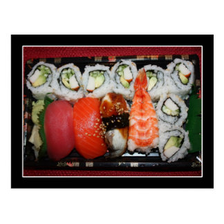 Sushi Tray Post Cards