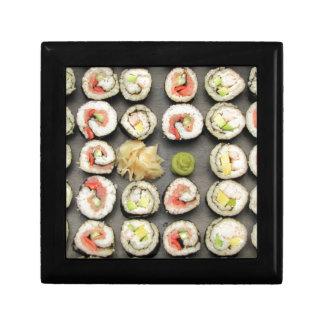 Sushi With Wasabi And Ginger Keepsake Box