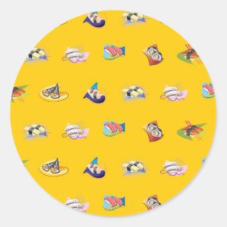 sushi yellow stickers