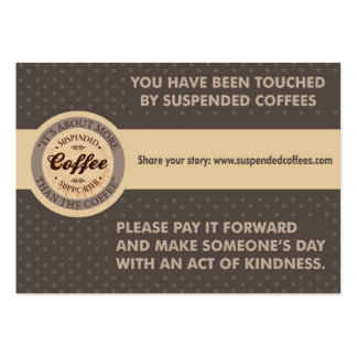 Suspended Coffees Kindness Cards Business Cards