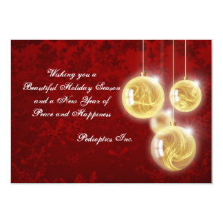 Suspended Ornaments - Personalized Business Holida 13 Cm X 18 Cm Invitation Card