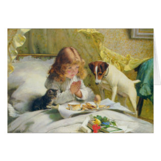 Suspense by Charles Burton Barber Greeting Card
