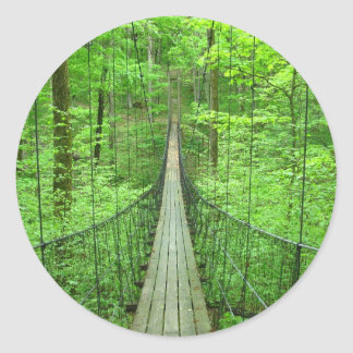 Suspension Bridge Classic Round Sticker