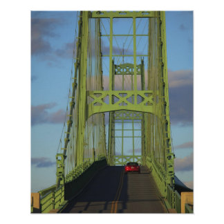 Suspension bridge onto Little Deer Isle Poster
