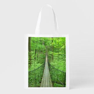 Suspension Bridge Reusable Grocery Bag