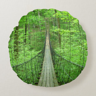 Suspension Bridge Round Cushion