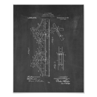 Suspension Lift-bridge Patent - Chalkboard Poster
