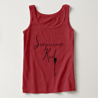 Suspicious Red Color Women's Tank