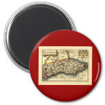 Sussex County Map, England Magnets