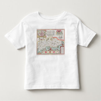 Sussex, engraved by Jodocus Hondius  from John Toddler T-Shirt
