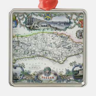 Sussex, engraved by W. Schmollinger Christmas Ornament