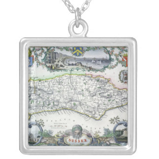 Sussex, engraved by W. Schmollinger Silver Plated Necklace