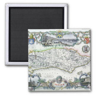 Sussex, engraved by W. Schmollinger Square Magnet