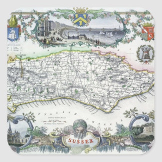Sussex, engraved by W. Schmollinger Square Sticker