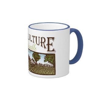 Sustainable Agriculture farm scene Mugs