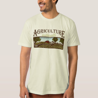 Sustainable Agriculture farm scene T Shirts