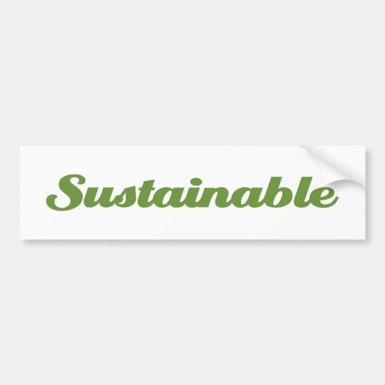 Sustainable Bumper Sticker