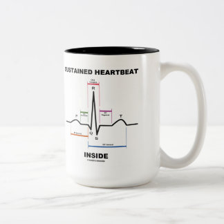 Sustained Heartbeat Inside (Electrocardiogram) Two-Tone Mug