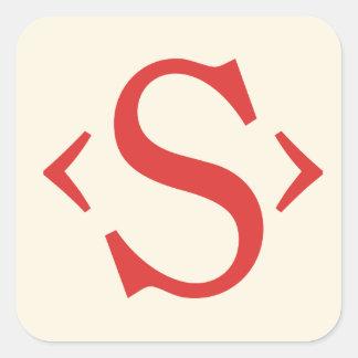 Susy Logo Square Sticker
