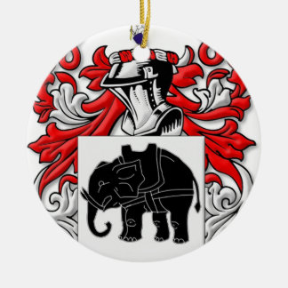 Sutcliffe Coat of Arms Christmas Ornament