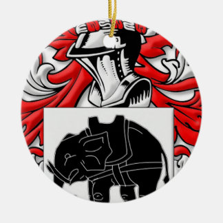 Sutcliffe Coat of Arms Double-Sided Ceramic Round Christmas Ornament