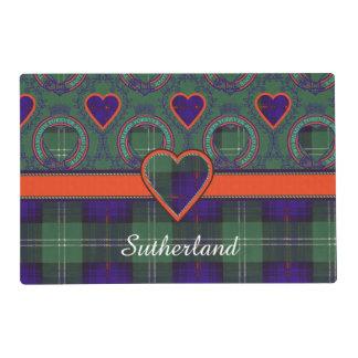 Sutherland Clan Plaid Scottish tartan Laminated Place Mat