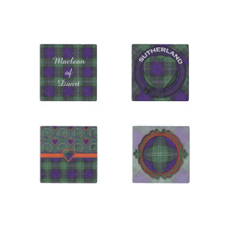 Sutherland Clan Plaid Scottish tartan Stone Magnet