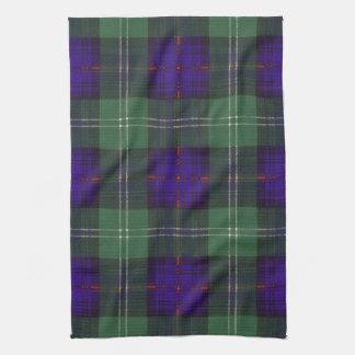 Sutherland Clan Plaid Scottish tartan Tea Towel