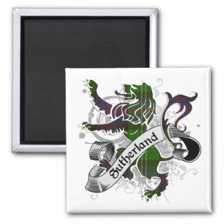 Sutherland Tartan Lion Magnet