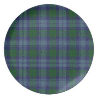 Sutherland Tartan Plaid Plate