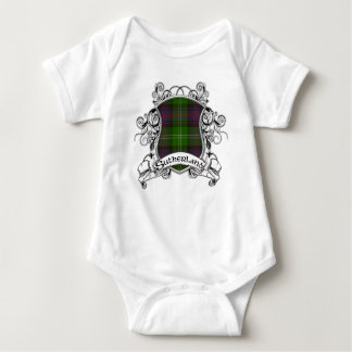 Sutherland Tartan Shield Baby Bodysuit