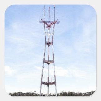 Sutro Tower Square Sticker