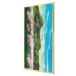 Sutter Buttes and Orchards in Bloom Canvas Prints