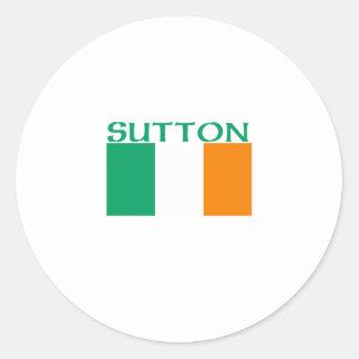 Sutton Round Stickers