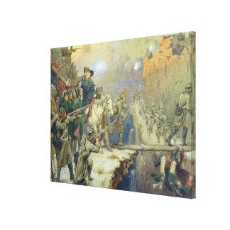 Suvorov crossing the Devil's Bridge in 1799, 1880 Canvas Print