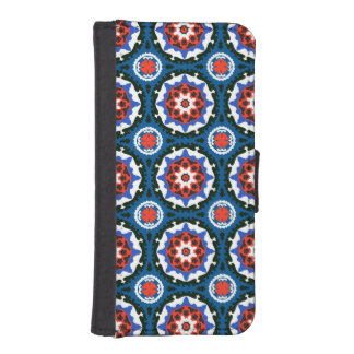 Suzani Pattern With Bold Ornament iPhone SE/5/5s Wallet Case