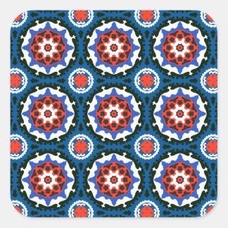 Suzani Pattern With Bold Ornament Square Sticker