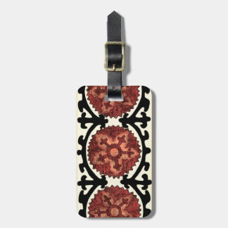 Suzani Style Decorative Floral Pattern Luggage Tag