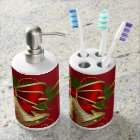 Suzanne Elizabeth Christmas Collection Soap Dispenser And Toothbrush Holder