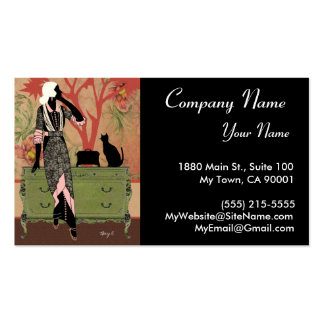 Suzanne in Orange Green - Business Cards