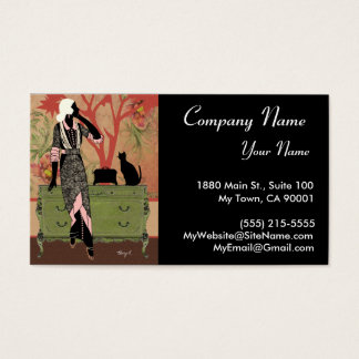 Suzanne in Orange & Green - Business Cards