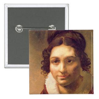 Suzanne or Portrait presumed 15 Cm Square Badge
