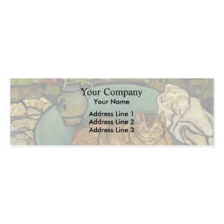 Suzanne Valadon- Raminou & pitcher with carnations Pack Of Skinny Business Cards